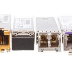 53482505 - sfp network modules isolated on a white background